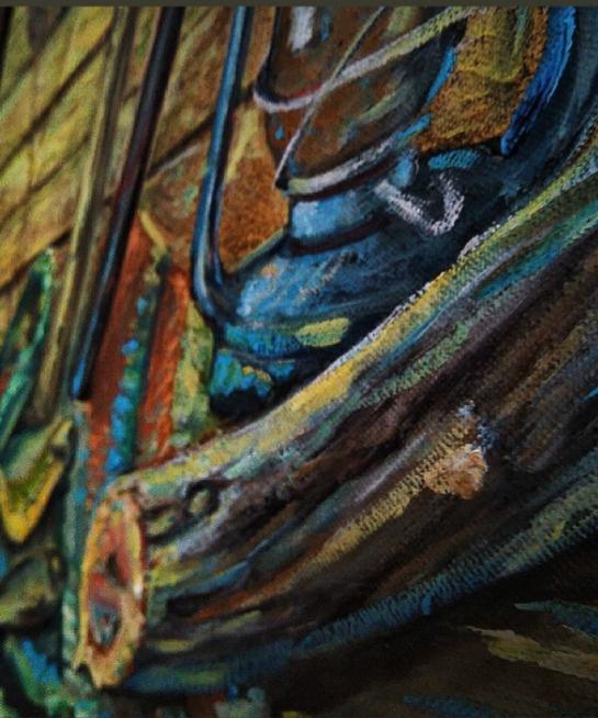 Unknown artist. Fisherman's still life