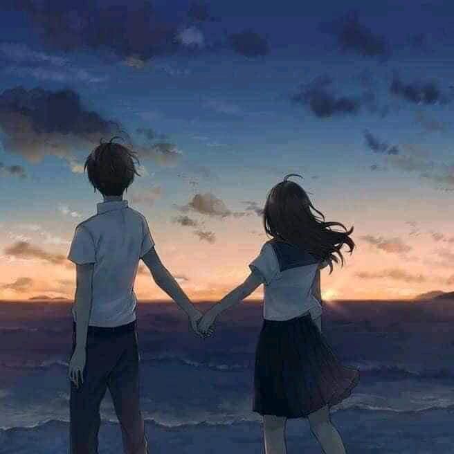 Nadav Kander. Holding Hands Watching The Sunset