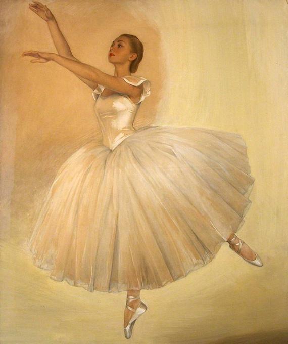 Савелий Абрамович Сорин. Портрет балерины Ирины Барановой. 1939
