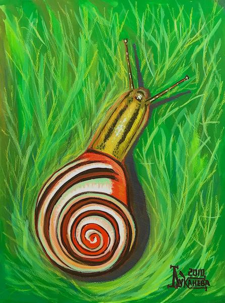 Larissa Lukaneva. Forest snail