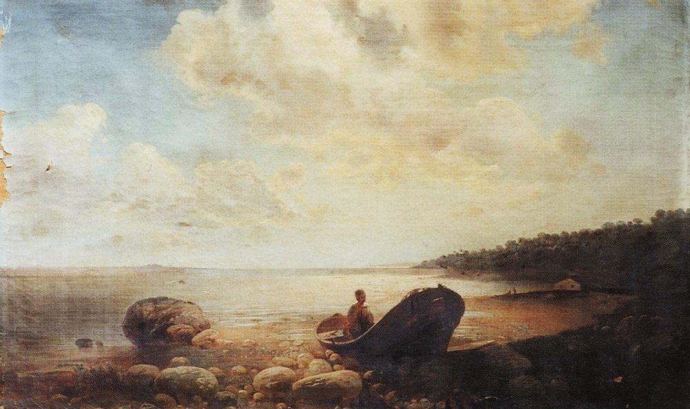 Алексей Кондратьевич Саврасов. Пейзаж с лодкой