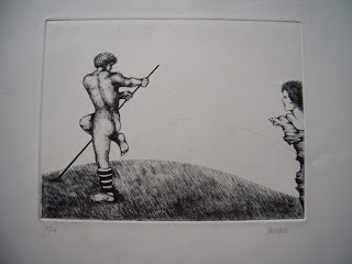 Unknown artist. Pole vaulting.