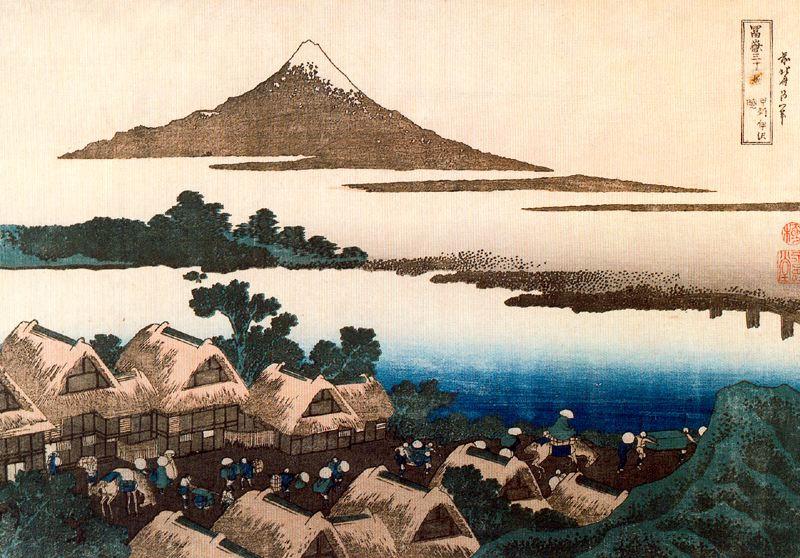 Кацусика Хокусай. Альба Исава в провинции Кай