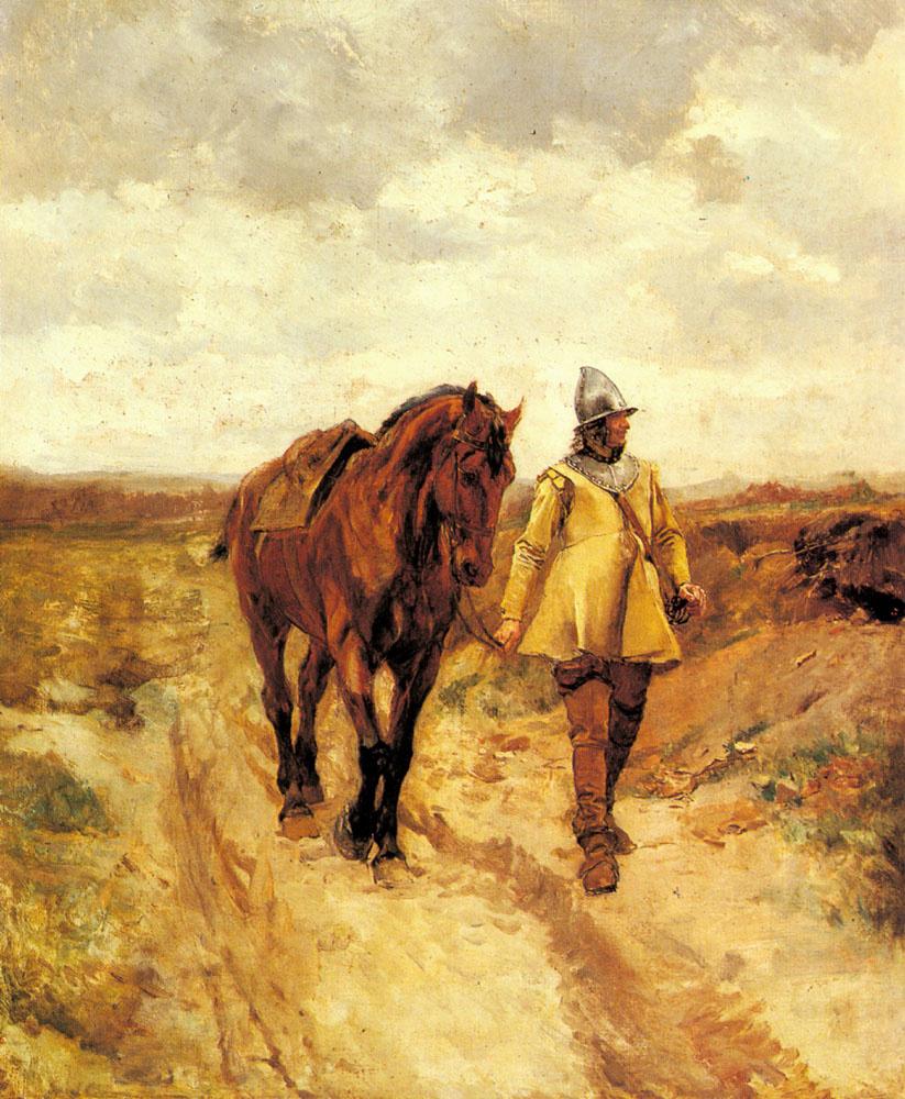 Жан-Луи-Эрнест Месонье. Мужчина в доспехах и его лошадь