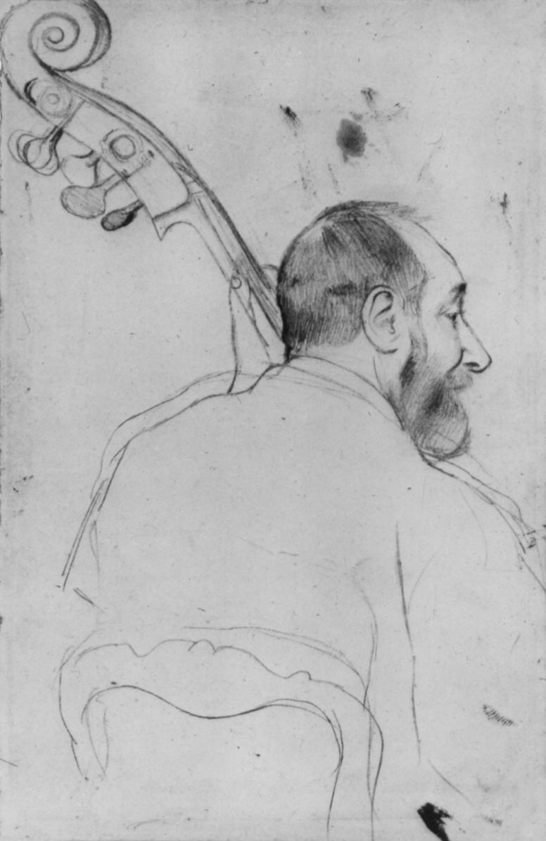 Edgar Degas. Portrait Of Bassisten M. Goffe