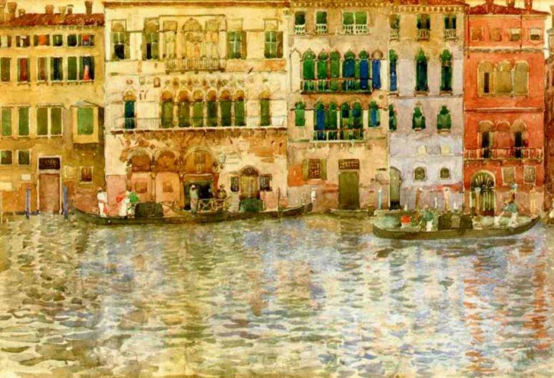 Морис Брэзил Прендергаст. Венецианские дворцы на Большом канале