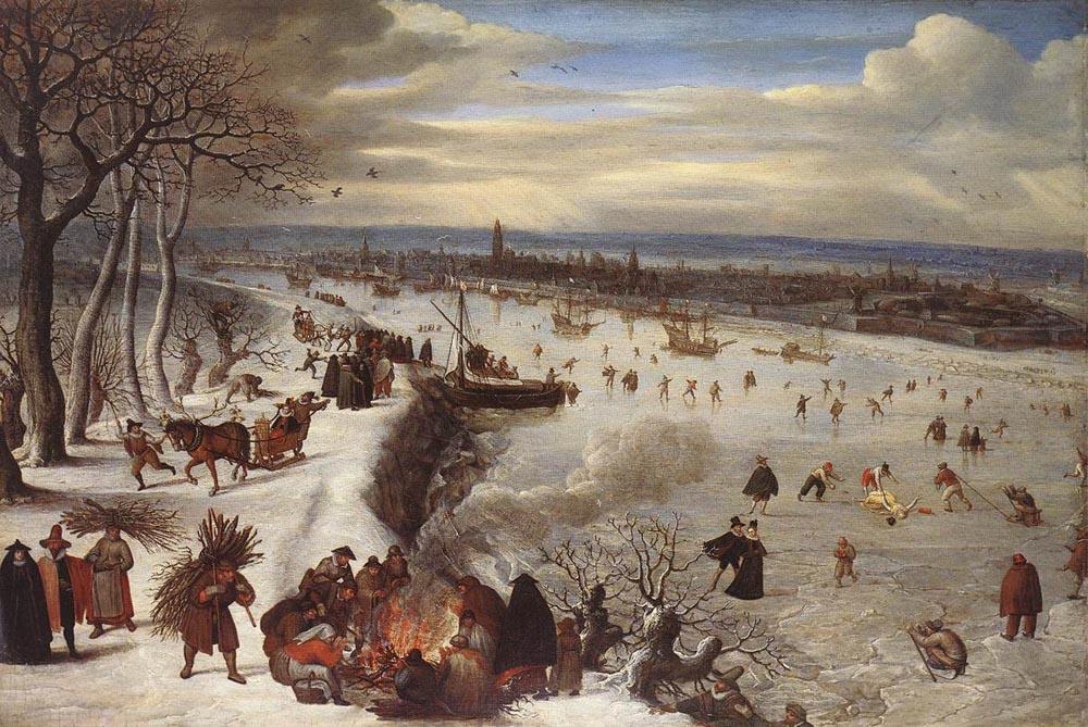 Лукас ван Фалькенборх. Вид Антверпена