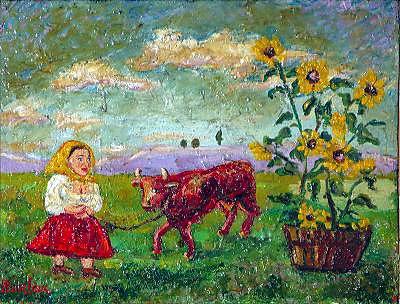 Давид Давидович Бурлюк. Корова