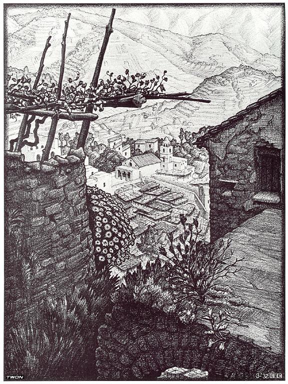 Мауриц Корнелис Эшер. Гамлет Турелло, Южная Италия