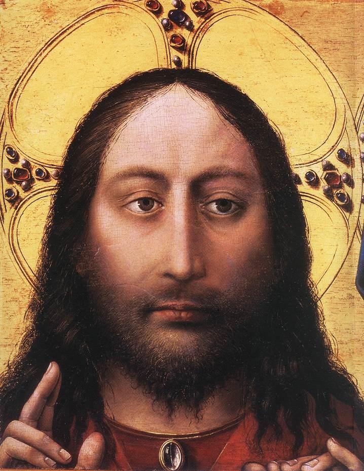 Робер Кампен. Благословение Христа и молитва Богородицы. Фрагмент