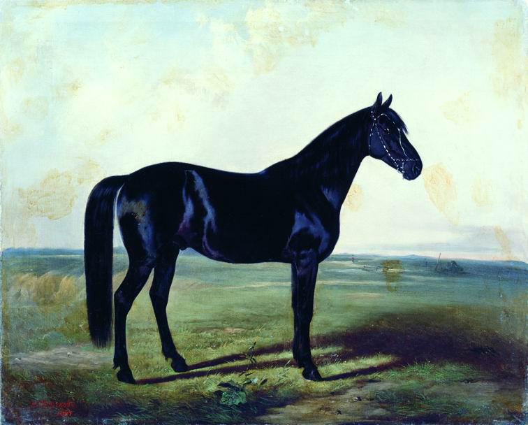Николай Егорович Сверчков. Черная лошадь.