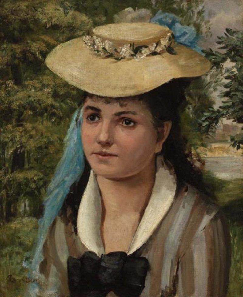 Pierre-Auguste Renoir. Lise in a straw hat (Girl in straw hat)