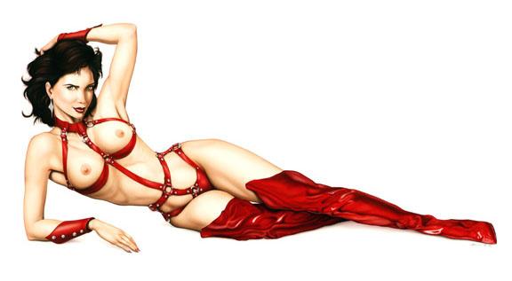 Robert Brun. In red