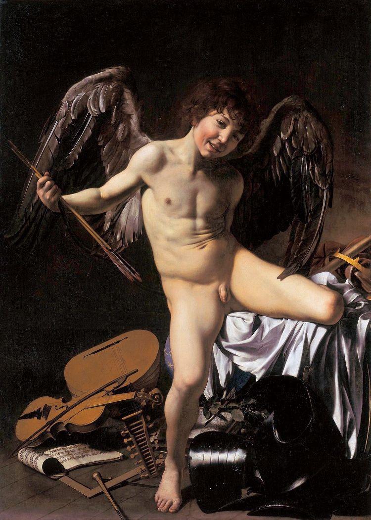 Микеланджело Меризи де Караваджо. Амур-Победитель