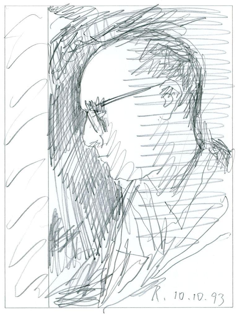 "Gerhard Richter. Self-portrait 4 (Series ""100 self-portraits"")"