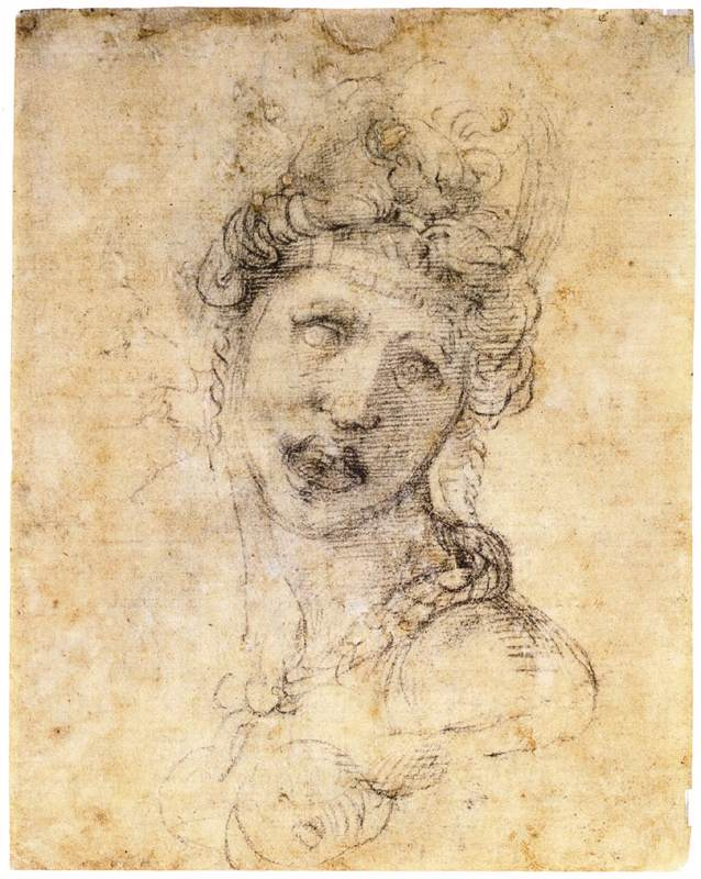 Michelangelo Buonarroti. Cleopatra (sketch)
