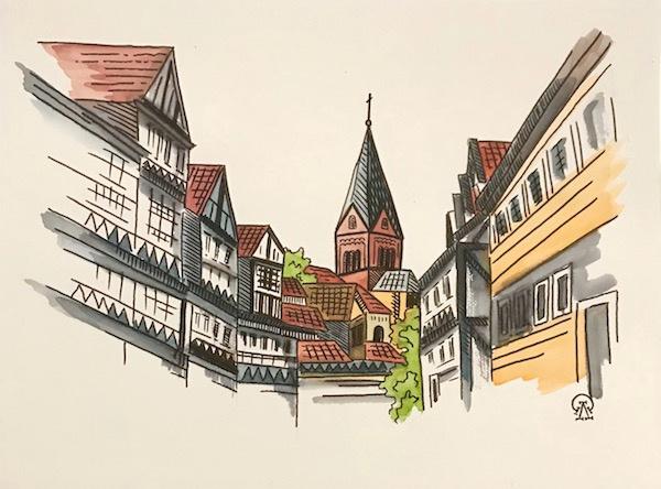 Лариса Луканева. Немецкий городок. Скетч.