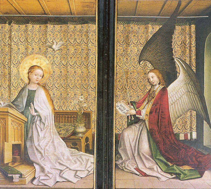 Stefan Lochner. The Annunciation