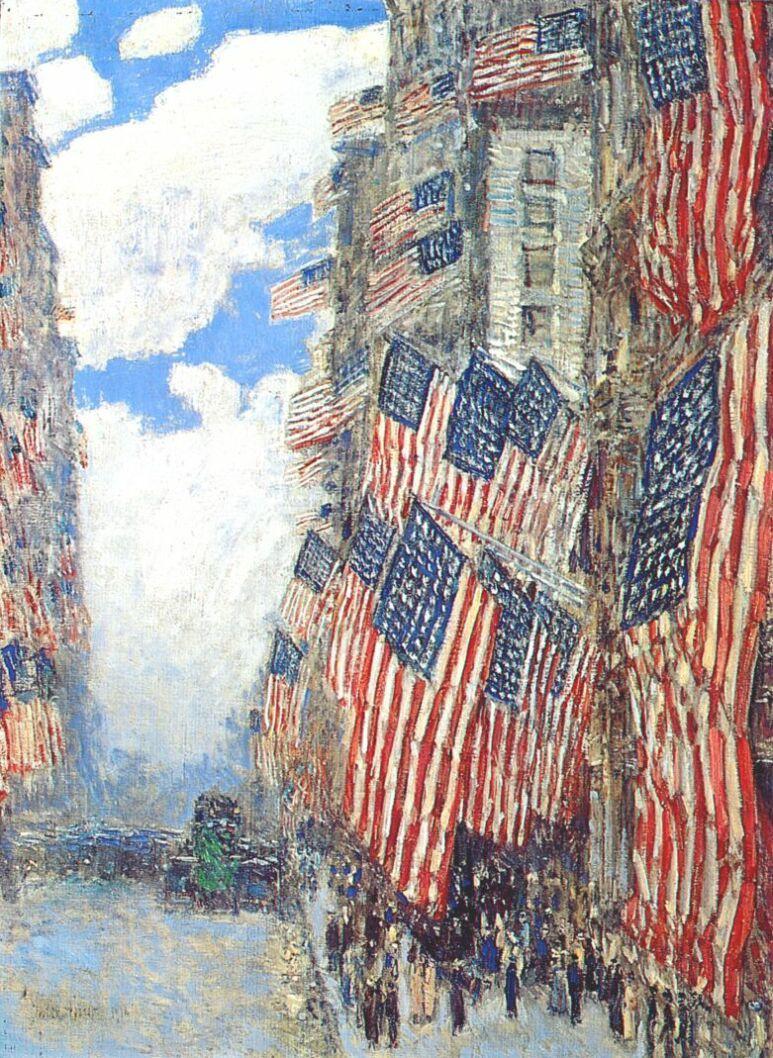 """Чайльд Гассам. Четвёртое июля, 1916 (серия """"Флаги"""")"""