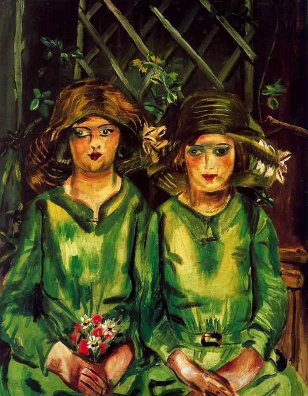 Фрэнсис Ходжкинс. Две девушки в зеленом