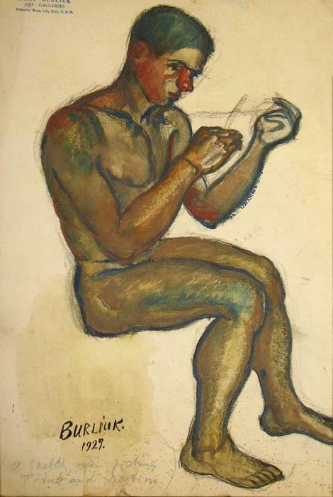 Давид Давидович Бурлюк. Сидящий юноша