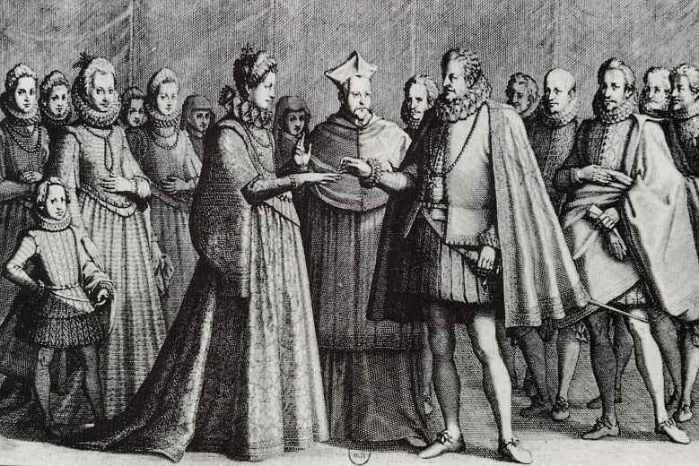 Жак Калло. Бракосочетание Фердинанда I и Кристины Лотарингской
