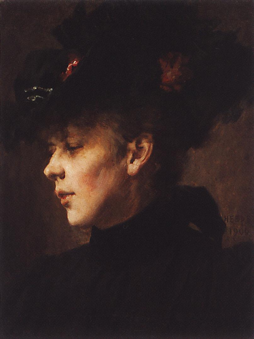 Nikolai Vasilyevich Nevrev. Portrait of an unknown. 1900