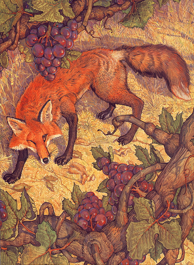 aesop fables the fox and the grapes