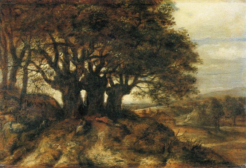 Ян Ливенс. Пейзаж с тремя ирандскими ивами