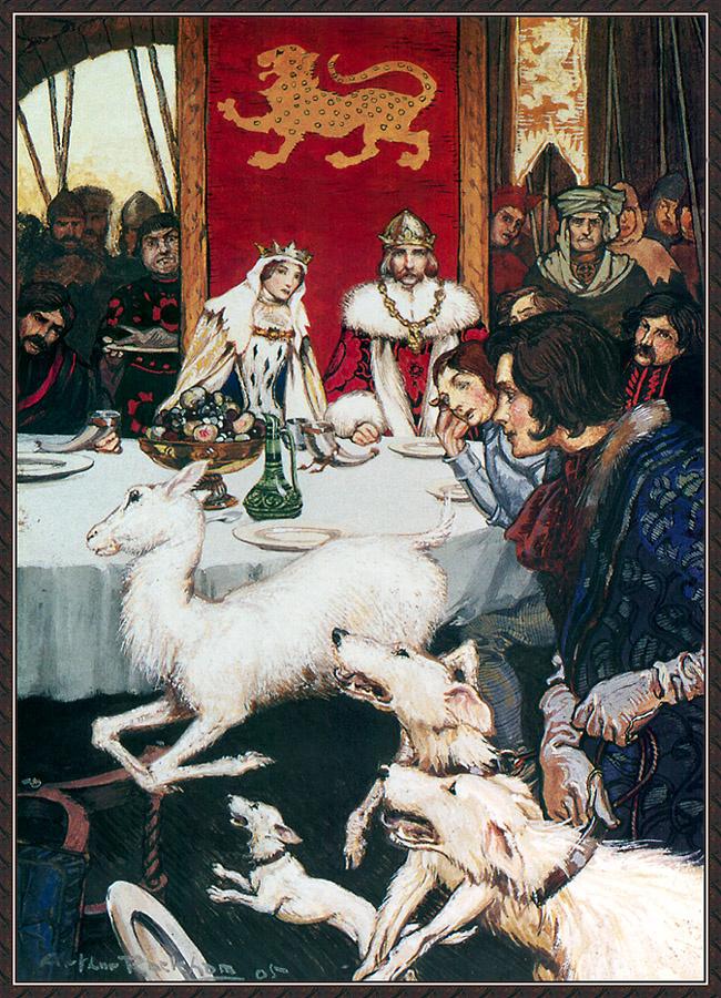 Arthur Rackham. Royal Wedding Feast