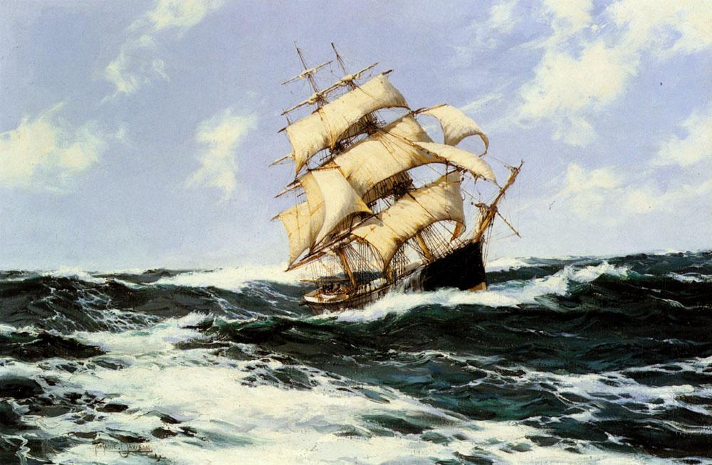Монтегю Доусон. Тихоокеанский корабль в открытом море