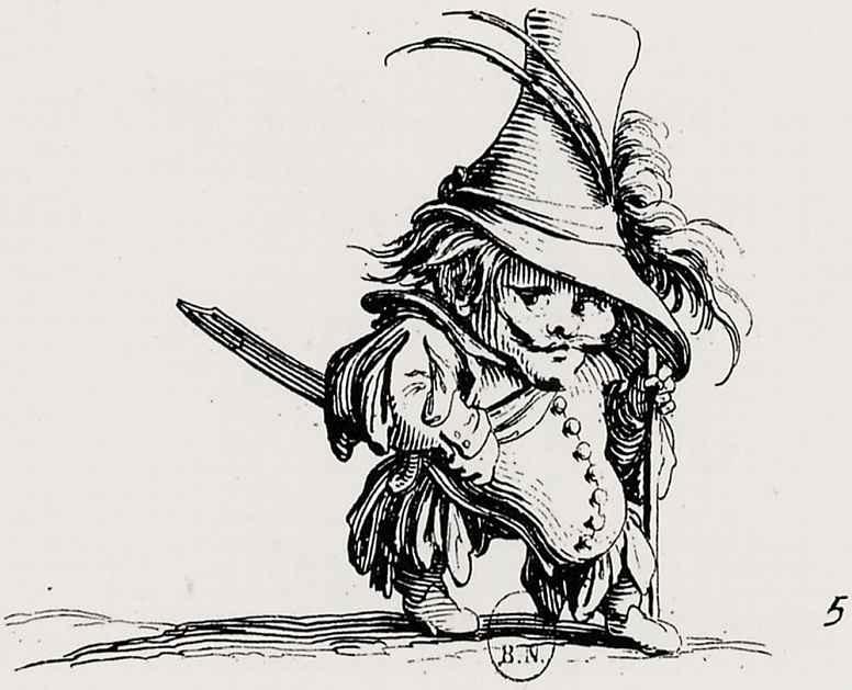 Жак Калло. Карлик в высокой шляпе