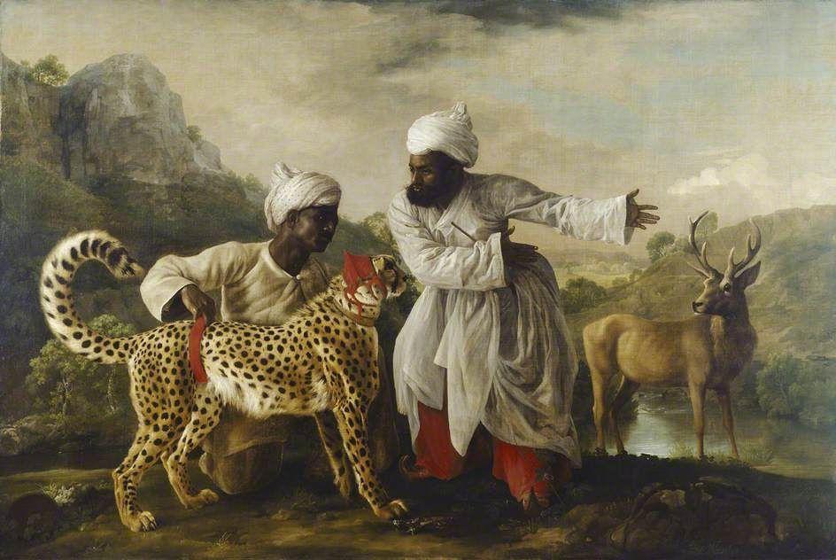 Джордж Стаббс. Гепард и олень с двумя индийцами