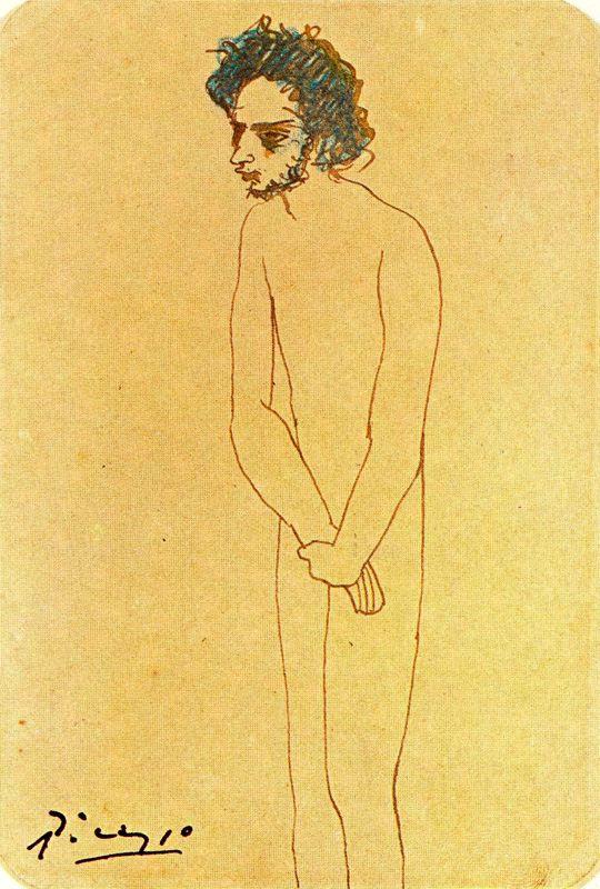 Пабло Пикассо. Портрет обнаженного Касагемаса