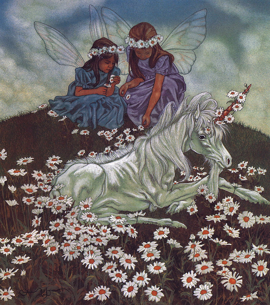 Michael haig. The unicorn with the angels