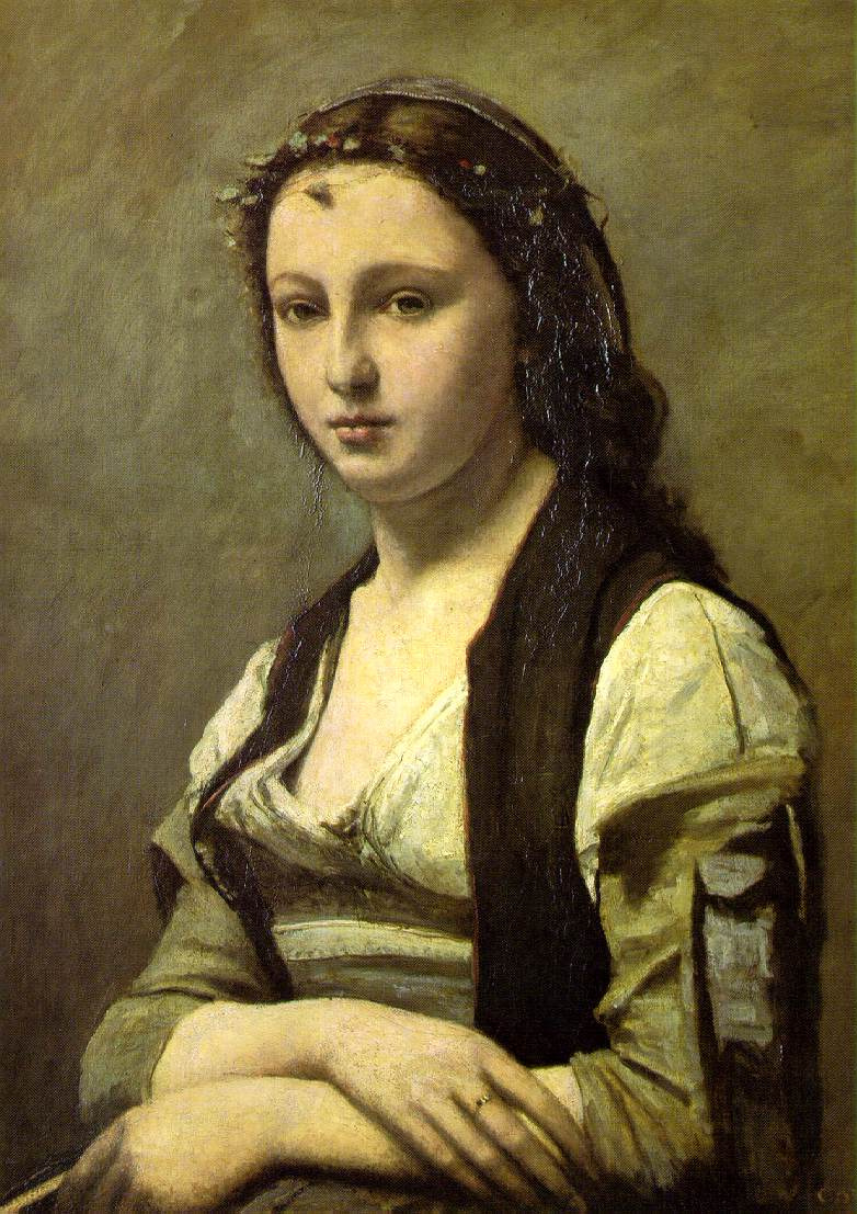 Camille Corot. Woman with a Pearl (Portrait of Bertha Goldschmidt)