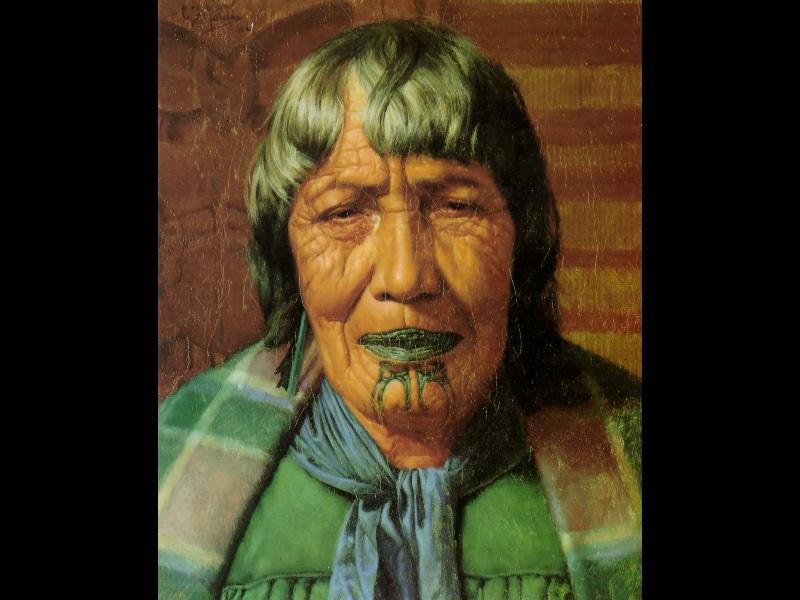 Чарльз Голди. Женщина с зелеными волосами