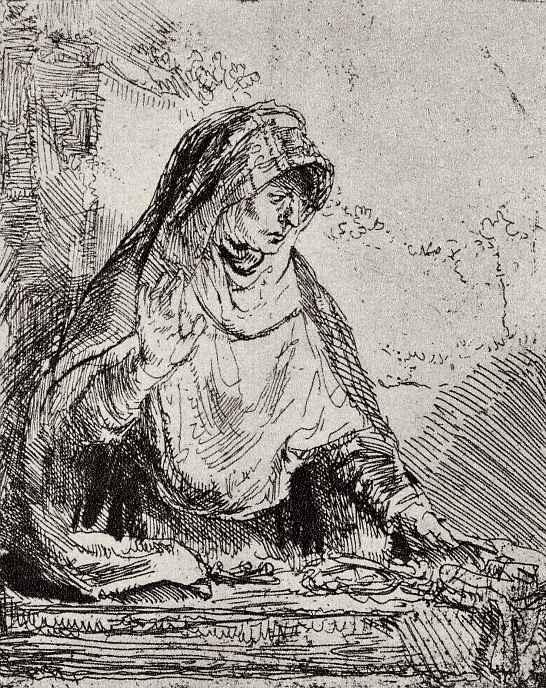 Рембрандт Харменс ван Рейн. Дева Мария скорбящая