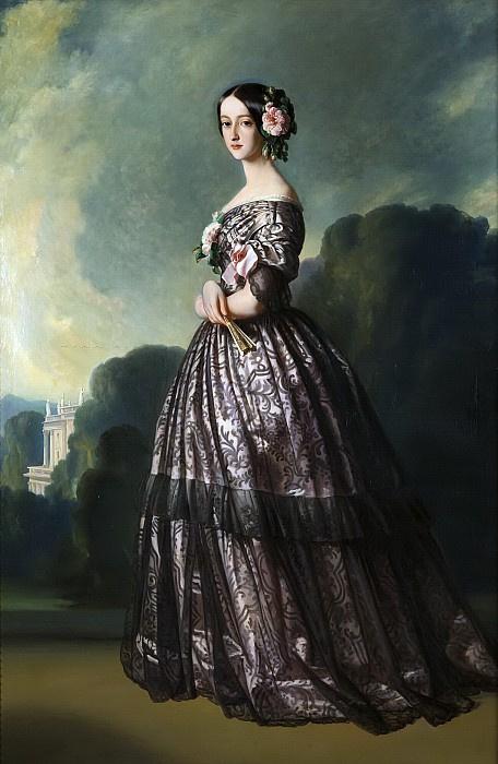 Франц Ксавер Винтерхальтер. Франсуаза Каролина де Бурбон-Браганса, принцесса Жуанвиль