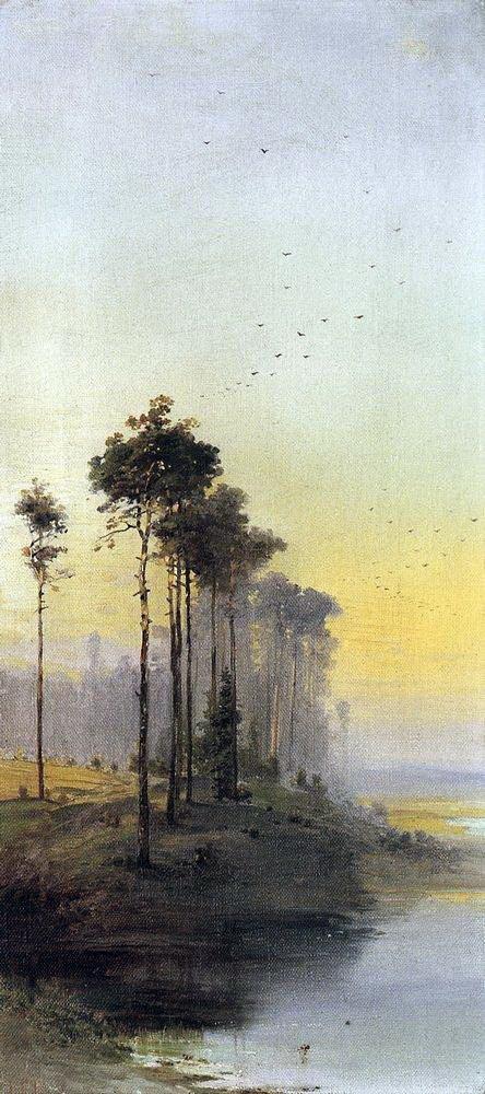 Алексей Кондратьевич Саврасов. Пейзаж с соснами