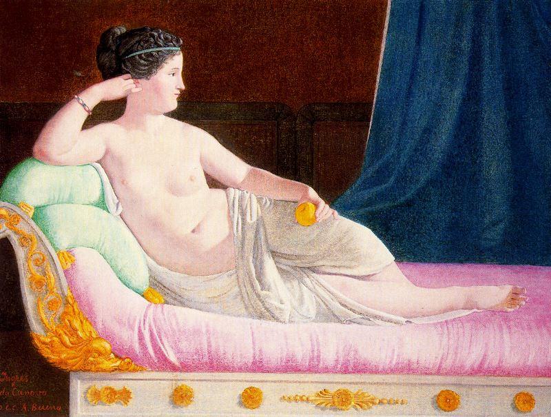 Антонио Буэно. Натурщица на розовом диване