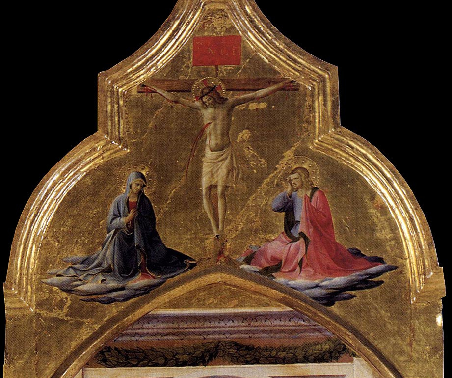 Fra Beato Angelico. Crucifixion of Christ. Fragment of the Corton Triptych