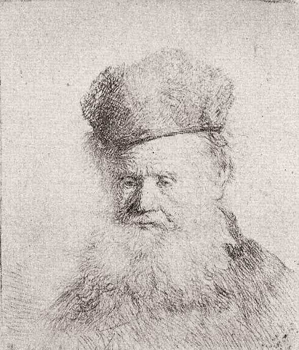 Рембрандт Харменс ван Рейн. Портрет бородатого старика в меховой шапке