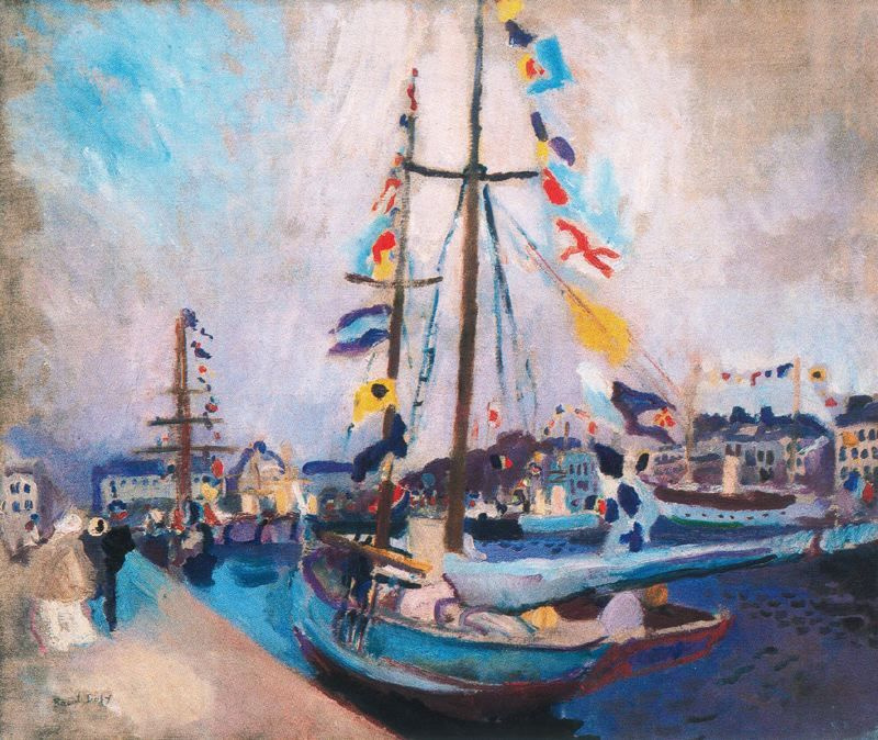 Raoul Dufy. Yacht with flags