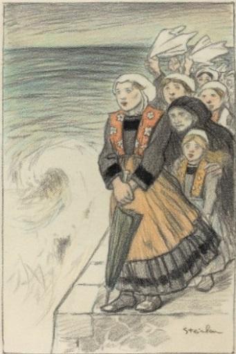 Theophile-Alexander Steinlen. Wives of seafarers