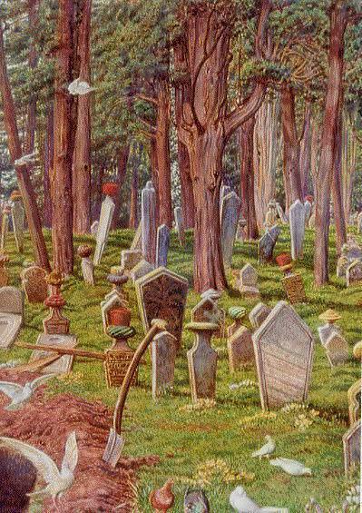 Уильям Холман Хант. Спящий город: кладбище Пера, Константинополь