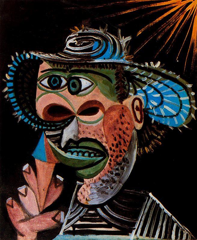 Пабло Пикассо. Мужчина в синей шляпе