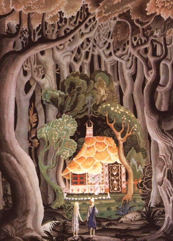 Кей Нильсен. Иллюстрация к сказке Гензель и Гретель
