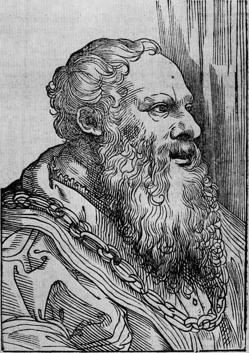 Titian Vecelli. Portrait Of Pietro Aretino