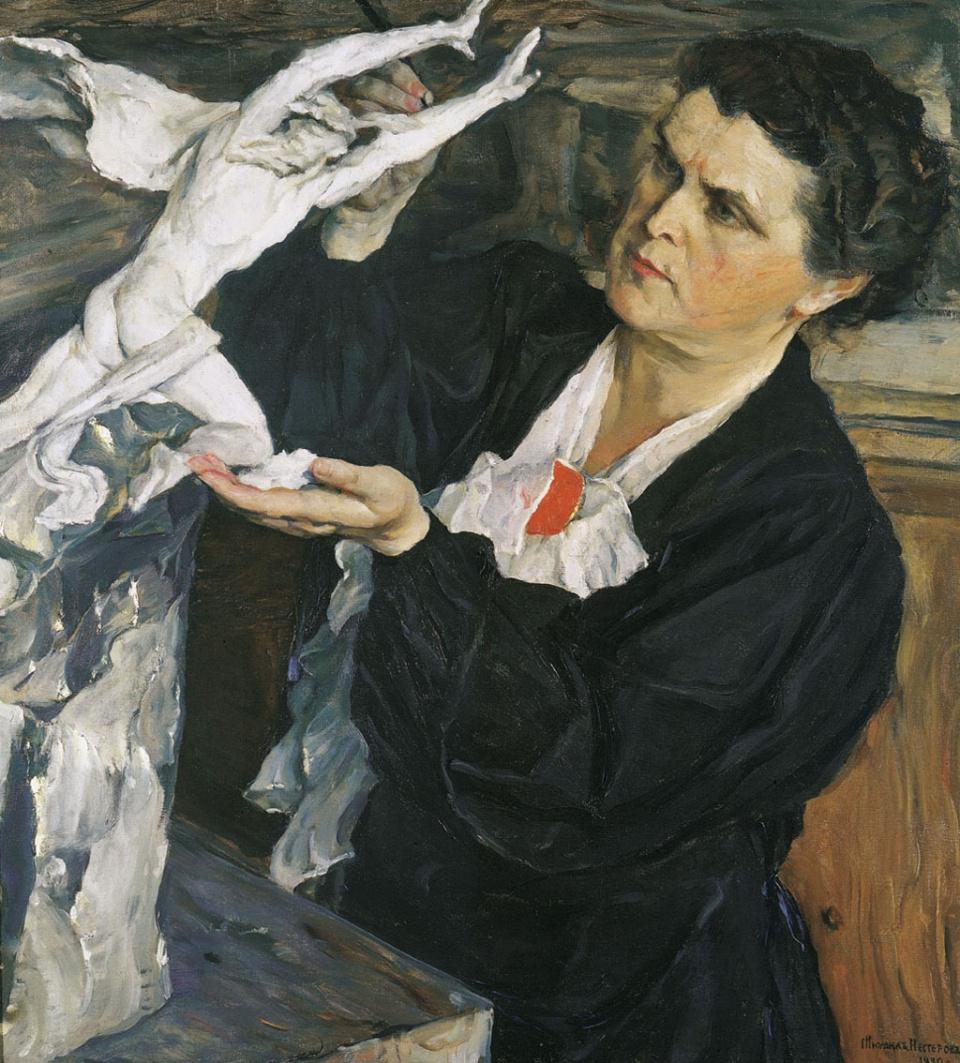 Mikhail Vasilyevich Nesterov. Portrait of the sculptor V. I. Mukhina
